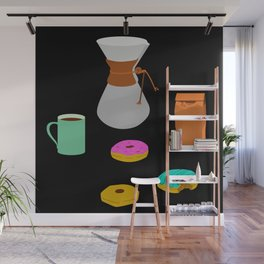 Donuts and Coffee Wall Mural