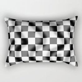 Chequered Flag Slight Ripple Rectangular Pillow