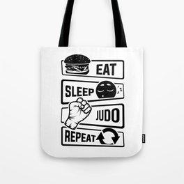 Eat Sleep Judo Repeat - Martial Arts Defence Tote Bag