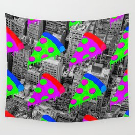 Pizza Invasion NYC Wall Tapestry