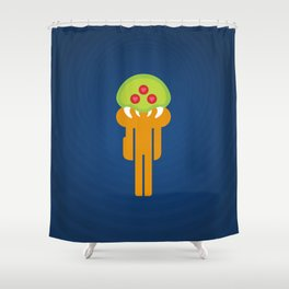 Metroid Loves Samus Shower Curtain