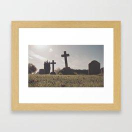 it's so depressing when people die in real life... Framed Art Print
