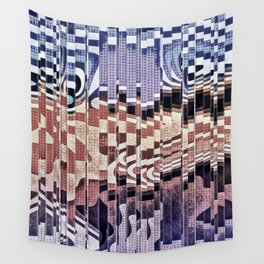 Abstract Halftones Collage Wall Tapestry