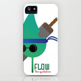 """The Blind Leaf - Flow """"The Guillotine"""" iPhone Case"""
