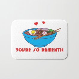Romantic Ramentic, Perfect gift for Him or Her on Valentine's Day Bath Mat