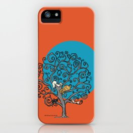 Cats under the blue moon iPhone Case
