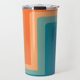 Retro 70s Color Lines Travel Mug