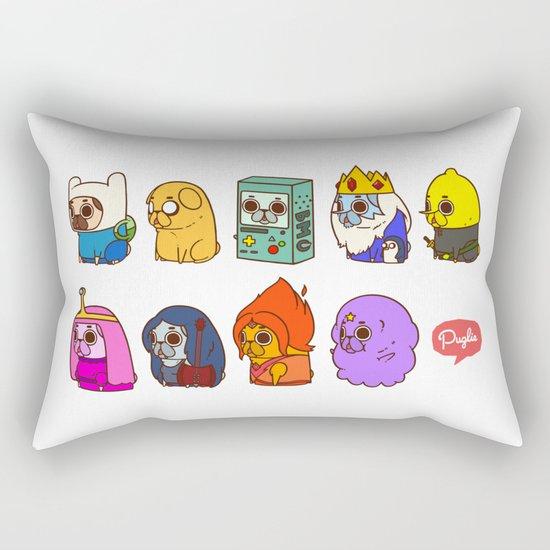 Pugventure Time! Rectangular Pillow