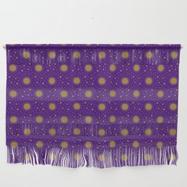 Astrological Purple Stars and Sun Wall Hanging