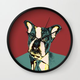 Johnnie Frenchie Wall Clock