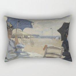Claude Monet - La plage de Trouville.jpg Rectangular Pillow