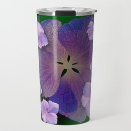 LACECAP HYDRANGEA FLOWER BOUQUET  Travel Mug