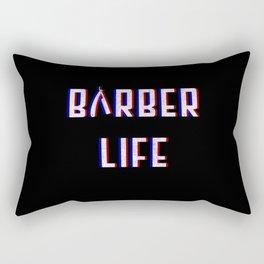 Barber Life Vintage Classic Barber Retro Distressed Gift Rectangular Pillow