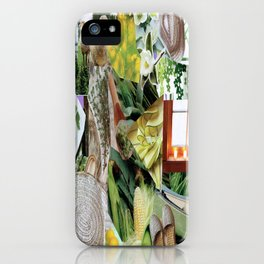 Collage - Feeling Green iPhone Case