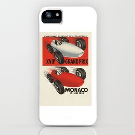 Vintage Monaco Grand Prix Poster - Circa 1959 iPhone Case