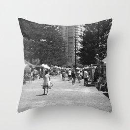 Weekend Markets Throw Pillow