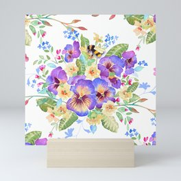 Pansy Chintz Mini Art Print