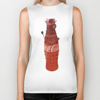dalek Biker Tanks featuring Dalek-Cola by colleencunha