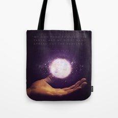 Isaiah 48:13 Tote Bag