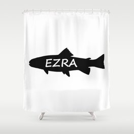 Ezra Fish Shower Curtain