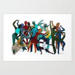 Dancing your own step Art Print