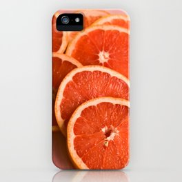 Grapefruit on Pink iPhone Case