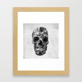 Town Skull B&W Framed Art Print
