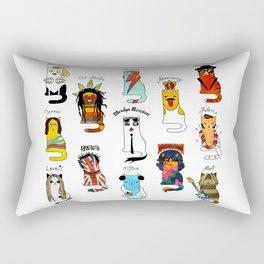 Legendary Art cats - Great artists, great painters. Rectangular Pillow