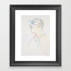 One line Jour de Fete (Jacques Tati) Framed Art Print