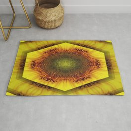 Sunflower Kaleidoscope by Cat Ryan Rug
