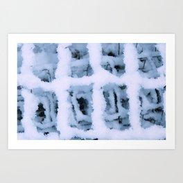 Snow Pattern Art Print