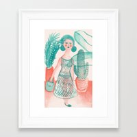 succulent Framed Art Prints featuring Succulent by Kathryn Nyquist