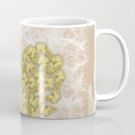Romantic butterfly swarm on peach texture Coffee Mug