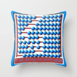 Abacus calculator Throw Pillow