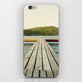 Pier in Caribbean lake iPhone Skin