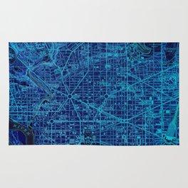 15-Washington West Columbia 1945, old vintage blue map Rug
