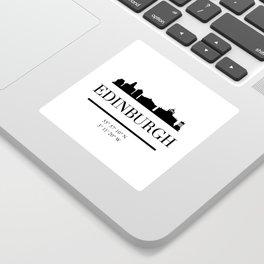 EDINBURGH SCOTLAND BLACK SILHOUETTE SKYLINE ART Sticker