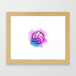 Volleyball Watercolor Framed Art Print