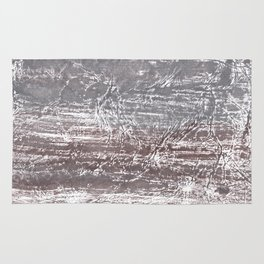 Gray nebulous wash drawing Rug