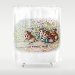 Little Hamster Garden Shower Curtain