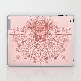 Sacred Lotus Mandala – Rose Gold & Blush Palette Laptop & iPad Skin