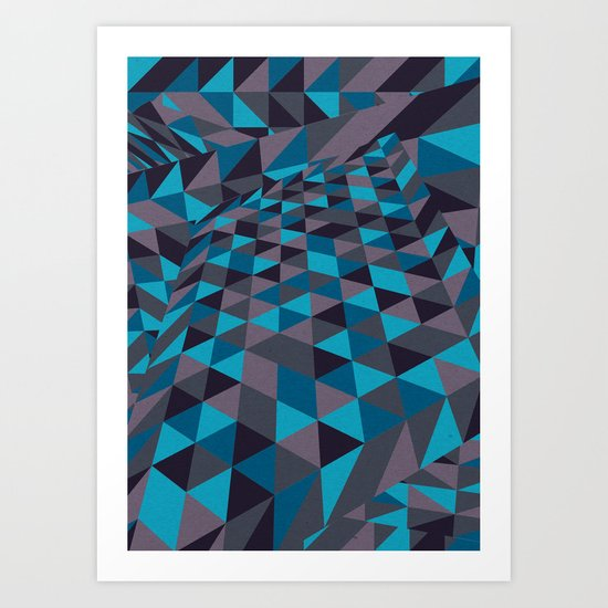 Triangulation (Inverted) Art Print