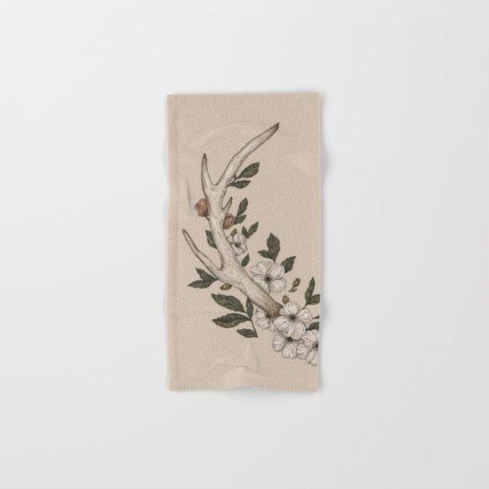 Floral Antler Hand & Bath Towel