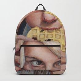 Eleven eats an Eggo - Stranger Painting Things Backpack