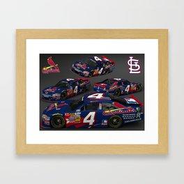 St. Louis Cardinal #NASCAR car. Framed Art Print