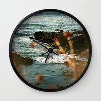 west coast Wall Clocks featuring West Coast Oceans by Amy J Smith Photography