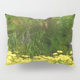Daisies and Plumes at the Split Rail Fence Pillow Sham