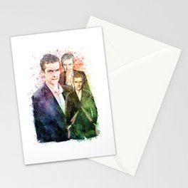 12th Doctor/Doctor Who/Peter Capaldi inspired Mixed Media Watercolor Portrait Stationery Cards