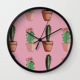 Cactus Glory Wall Clock
