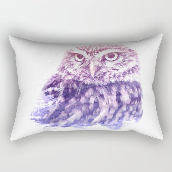 OWL SUPERIMPOSED WATERCOLOR Rectangular Pillow